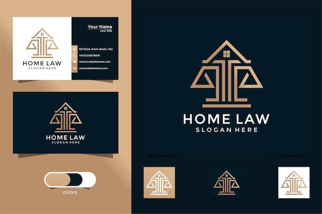 Anwaltskanzlei und haus logo design und visitenkarte