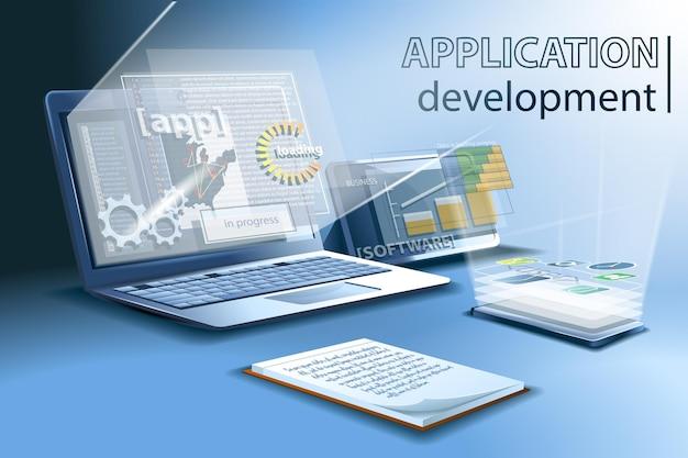 Anwendungsentwicklung für verschiedene plattformen und geräte, online-codierung und installation.