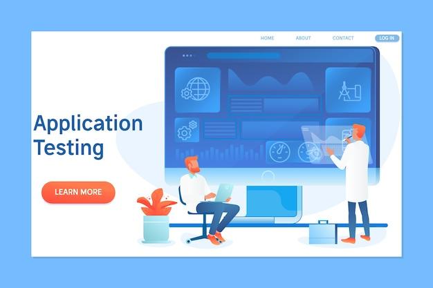 Anwendungsprogrammierung und testen mit zeichen