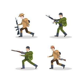 Anzac soldaten icon-set