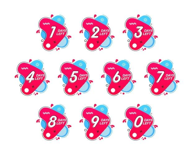 Anzahl der verbleibenden tage countdown der verbleibenden tage zählzeit verkauf