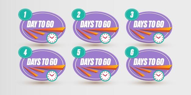 Anzahl tage bis zum countdown-banner-set