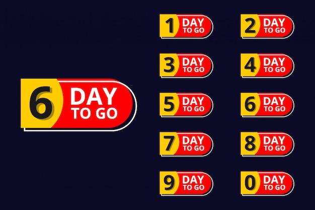 Anzahl verbleibender tage countdown