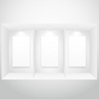 Anzeigefenster mit bilderrahmen