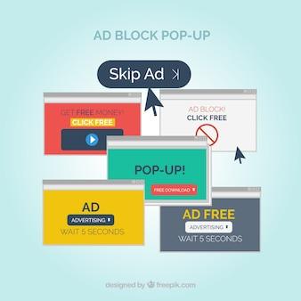 Anzeigenblock Pop-up-Konzept