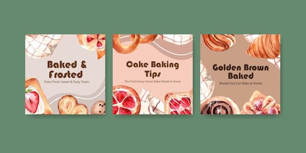 Anzeigenvorlagen für den verkauf von bäckereien