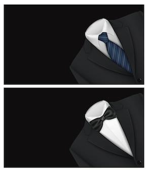Anzug hintergrund mit fliege