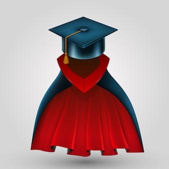 Anzug kreatives kostüm für graduierte kunst. vektorillustration Premium Vektoren