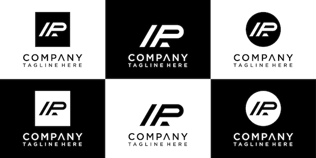 Ap buchstaben monogramm logo-design