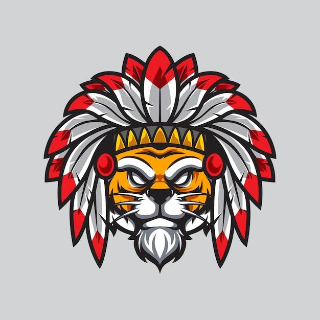 Apache tiger e sport logo