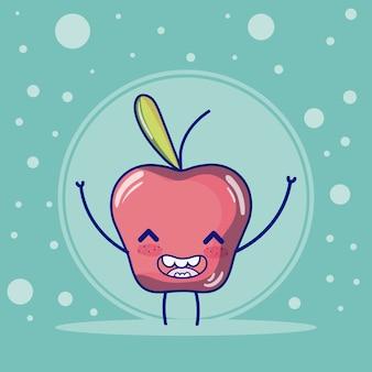 Apfel süße früchte cartoons