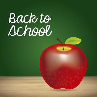 Apfel und zurück zum schuletikett