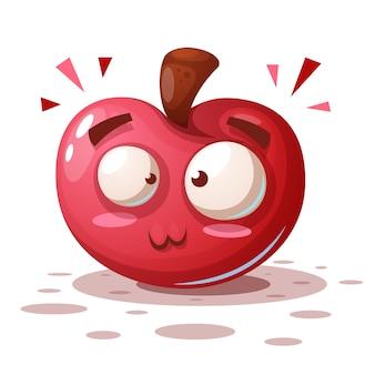 Apfel zeichentrickfiguren