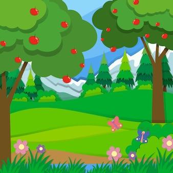 Apfelbäume im obstgarten