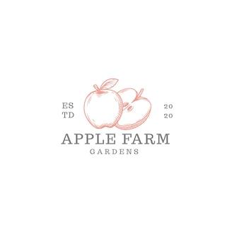 Apfelfarm-logo isoliert auf weiß