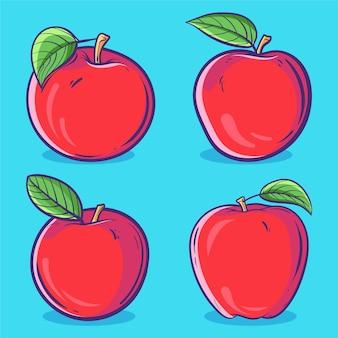 Apfelfrucht-cartoon-vektor-illustration