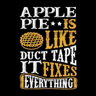Apfelkuchen ist wie klebeband, es fixiert alles