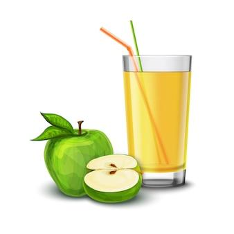 Apfelsaft glas