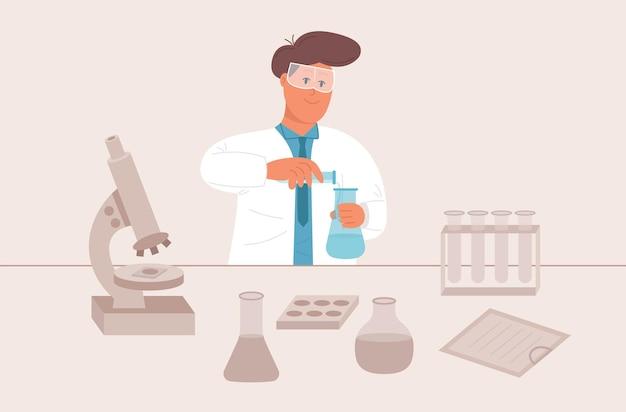 Apotheke macht chemische reaktionen im labor