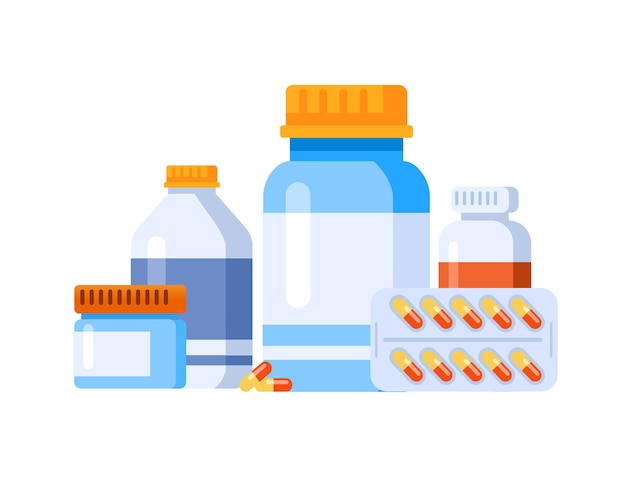 Apotheke medikament medikamente vektor-illustration website landing page