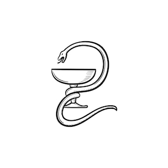 Apotheke symbol hand gezeichnete umriss-doodle-symbol