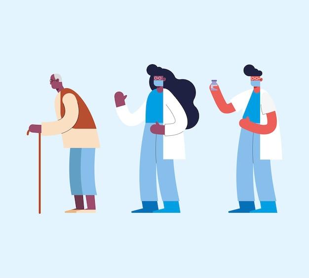 Apotheker und großvater personen charaktere