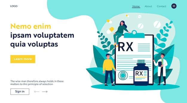 Apotheker und patienten mit rx-rezept