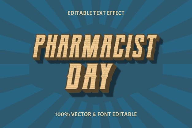 Apothekertag editable text effekt