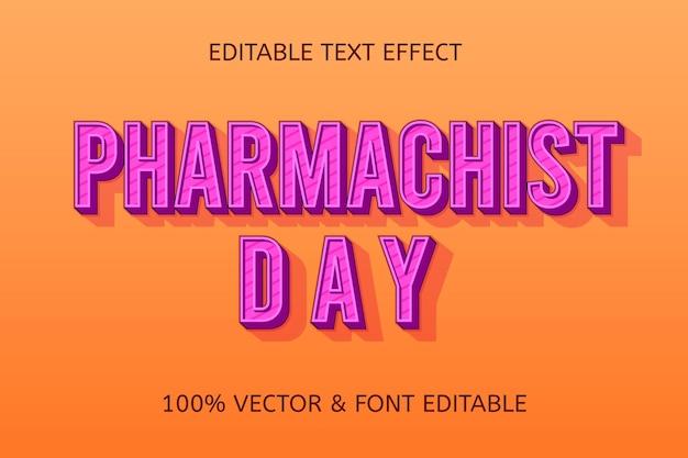 Apothekertag farbe lila creme bearbeitbarer texteffekt