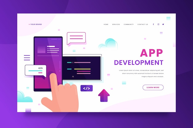 App-entwicklung - landing page