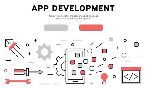 App-entwicklung web-infografik