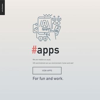 App-entwicklungsblock-website-vorlage
