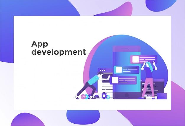 App-entwicklungsillustration