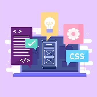 App-entwicklungskonzept mit laptop