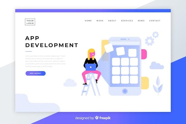 App-entwicklungszielseite