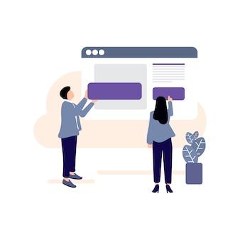 App-installation, inhaltssymbol aktualisieren, technologie, computer, webseite, installationssymbol, inhaltssymbol, webseite, arbeitender mensch Premium Vektoren