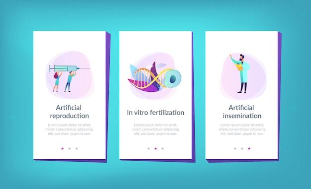 App interface-vorlage für künstliche reproduktion.