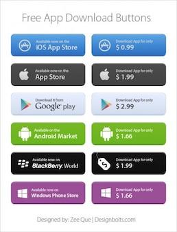 App-markt download-buttons
