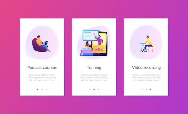 App-schnittstellenvorlage für aufgezeichnete klassen.
