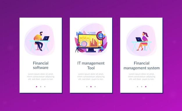 App-schnittstellenvorlage für das finanzmanagementsystem.