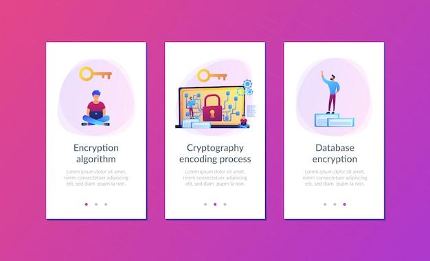 App-schnittstellenvorlage für kryptografie und verschlüsselung.
