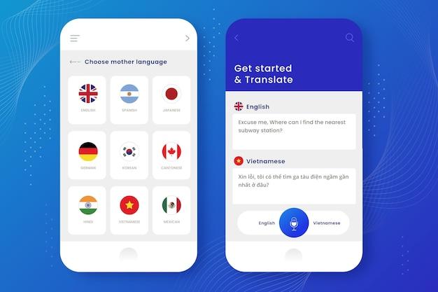App-schnittstellenvorlage übersetzen
