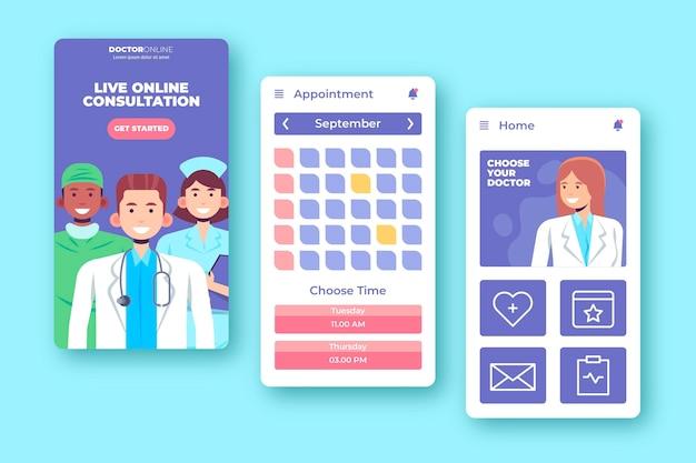 App-stil für medizinische buchung