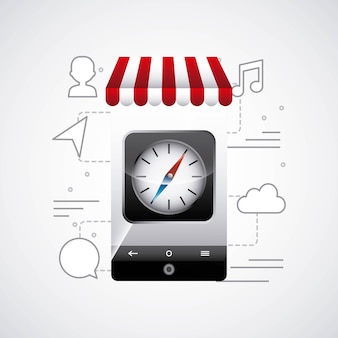 App-store-design-vektor-illustration