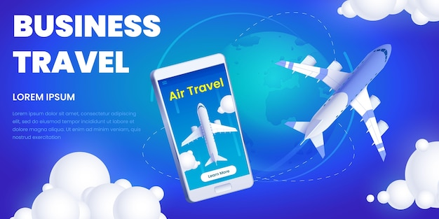 App-werbung für geschäftsreisen