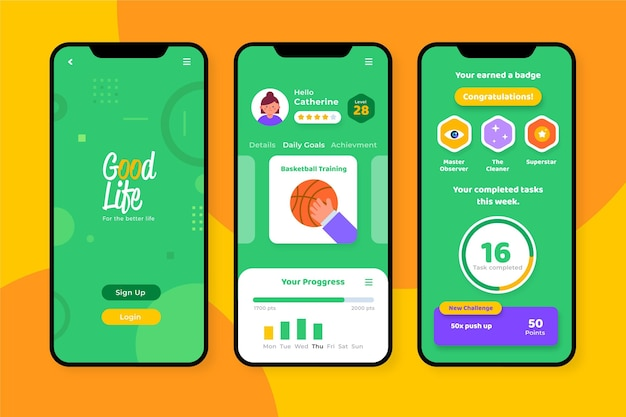 App zur verfolgung von zielen und gewohnheiten