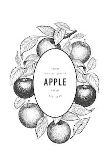 Apple branch design-vorlage.