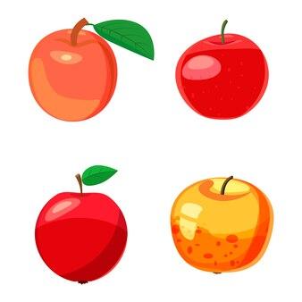 Apple eingestellt. cartoon satz von apfel