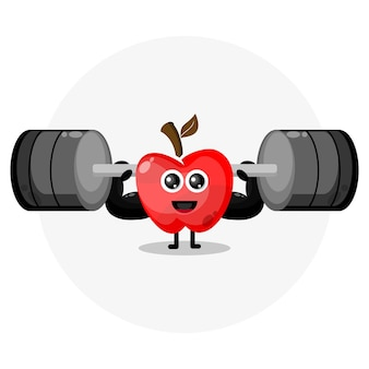 Apple fitness niedliches charakterlogo
