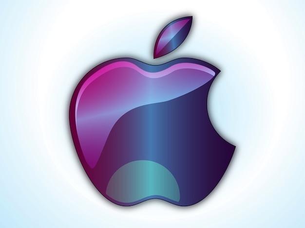 Apple-hell lila symbol vektor